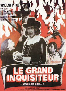 LE GRAND INQUISITEUR, WITCHFINDER GENERAL, French poster, affiche, Vincent Price