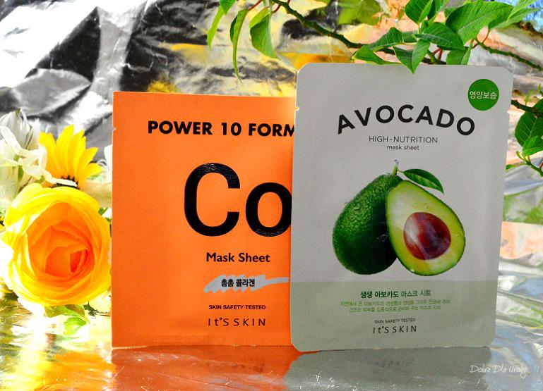 Koreańskie maski w płachcie It's Skin - Avocado oraz Power 10 Formula Co recenzja