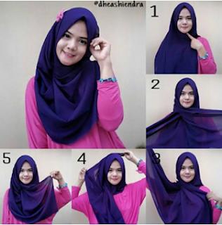 20+ Tutorial Hijab Segi Empat Terbaru Paling Mudah