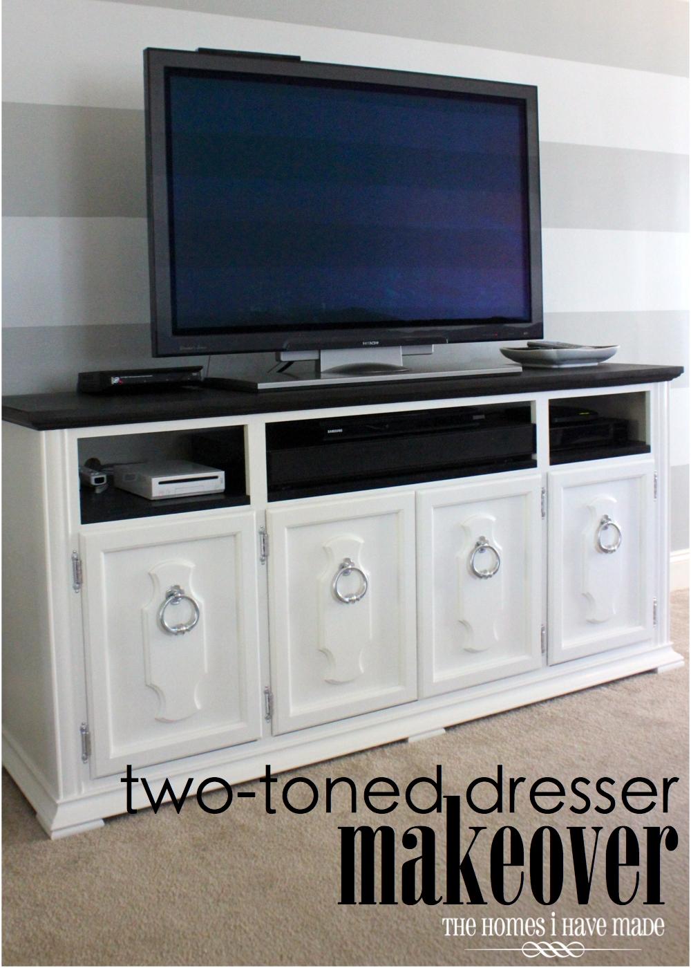 Dresser Makeover {Living Room Update} | The Homes I Have Made