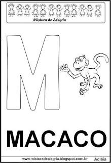 Alfabeto cartaz letra M