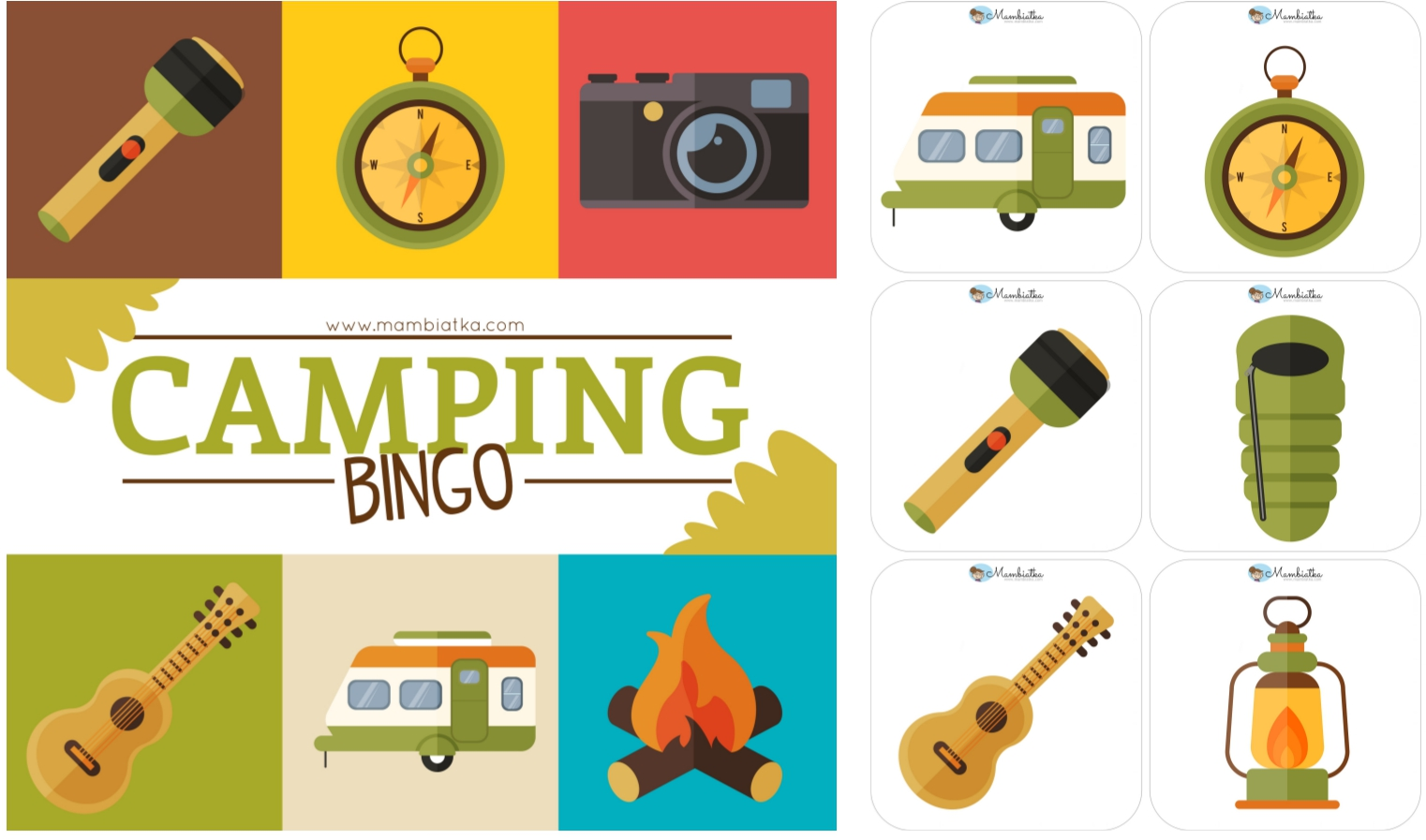 BINGO Camping Flash Cards Word And Vocabulary Poster Available Here