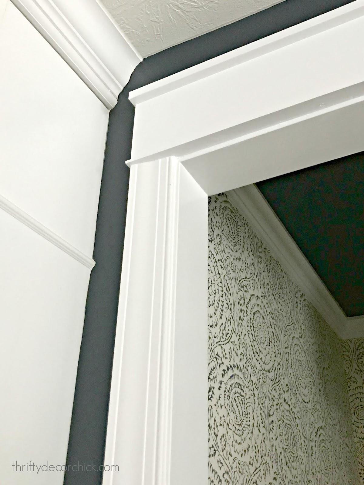 Adding chunky header to door frame