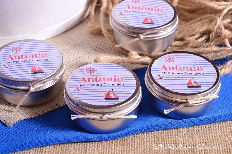 Detalles comuniones velas aromaticas personalizadas