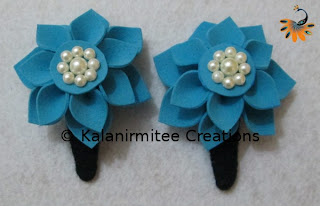kalanirmitee: foam flowers-hairclips-kids hair accessories