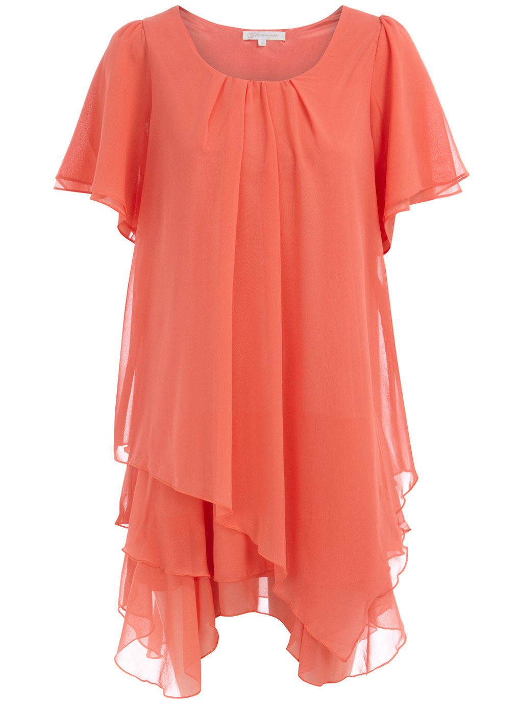 Louise thompson orange wedges floral necklace and coral for Jewelry to wear with coral dress