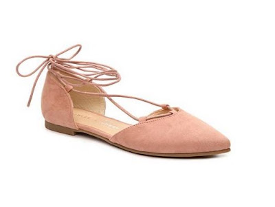 Chinese Laundry Light Pink Tieup flats