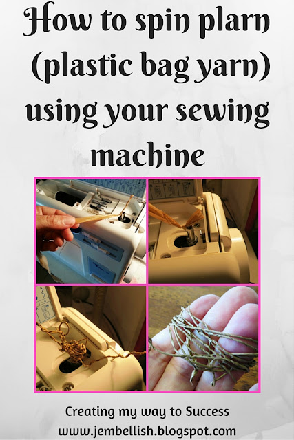 How to spin plarn with a sewing machine
