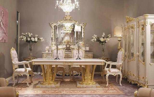 Luxury Classic Dining Table From Jepara Indonesia