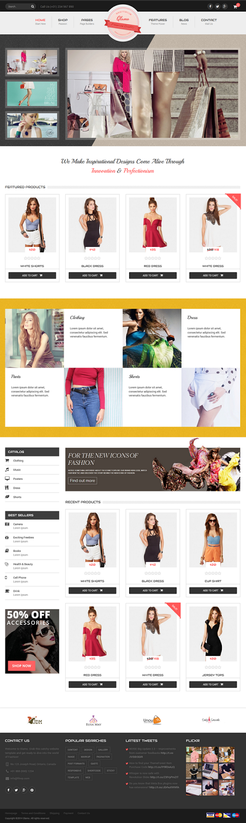 Free Responsive WordPress eCommerce Theme