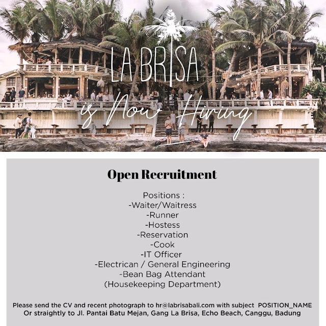 Lowongan kerja La Brisa Bali 2018