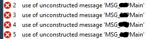 Use of unconstructed message