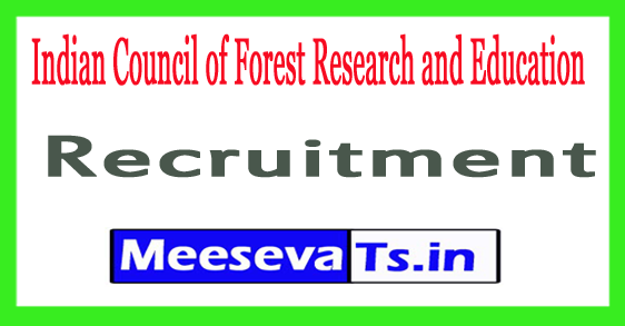 Indian Council of Forest Research and Education Dehradun Forest Conservator Recruitment 2017