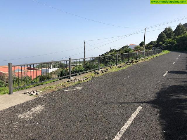 El Ayuntamiento de Villa de Mazo refuerza la seguridad de varios caminos del municipio