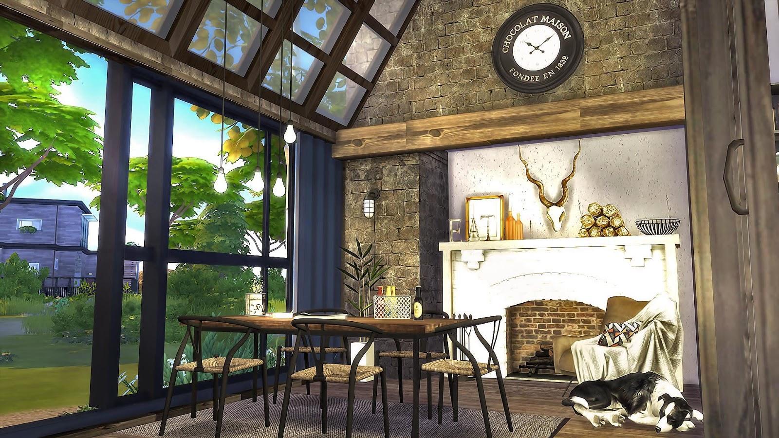 Sims4 Mid Century Industrial Loft 復古與工業風 - Ruby's Home Design