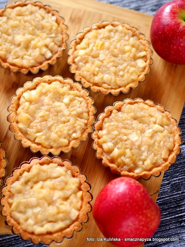 tartaletka, jablka, nadzienie jablkowe, szarlotka, jablecznik, ciasto