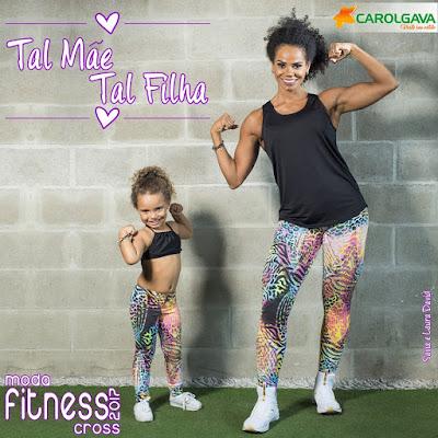 moda fitness para mãe e filha