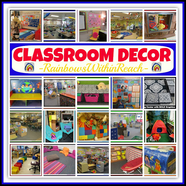 "Classroom Decor: The ""CUTE"" Conversation (RoundUP at RainbowsWithinReach)"
