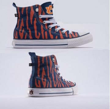 Popular NCAA Fan Gear - Auburn Tigers Official NCAA Skicks Unisex High Top Sneakers