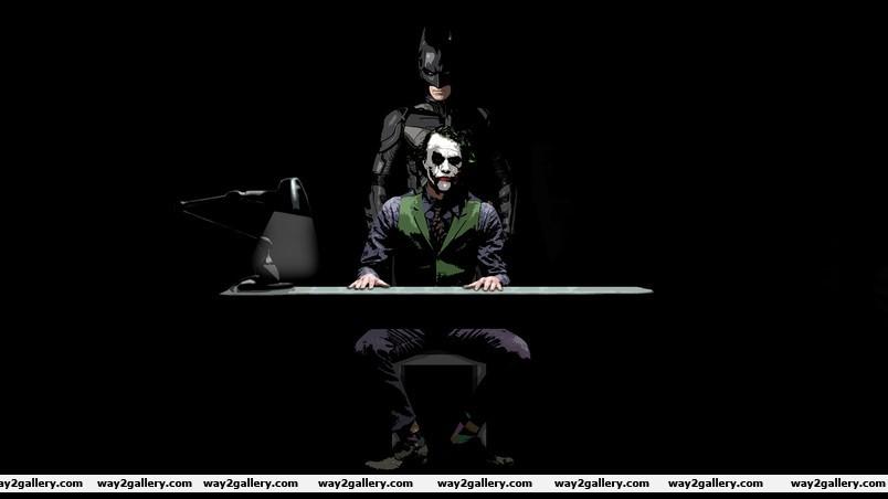 Batman and joker sketch wallpaper