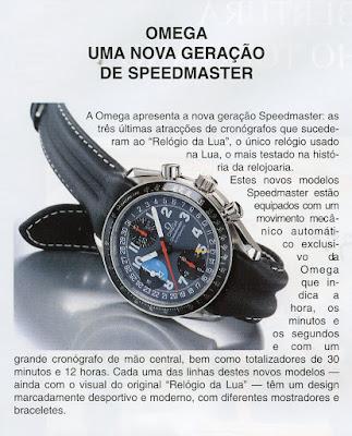 9933fe8ebb8 Há 20 anos - relógio Omega Speedmaster