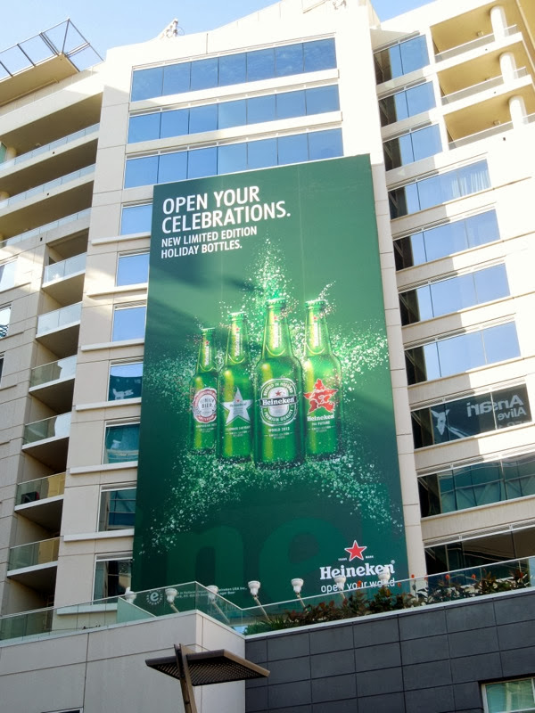 Heineken Open your celebrations billboard