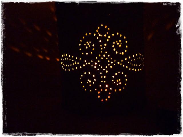 leuchtende Dosenlaterne aus Konservendose
