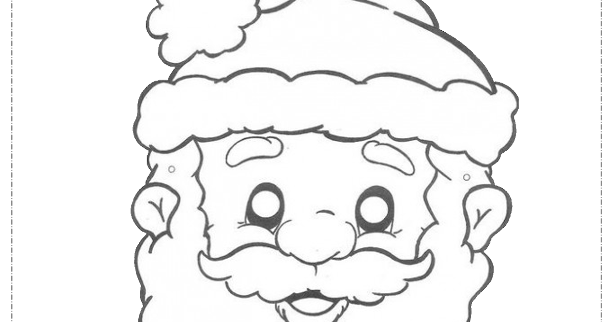 Educar X: Rosto De Papai Noel Para Colorir E Imprimir