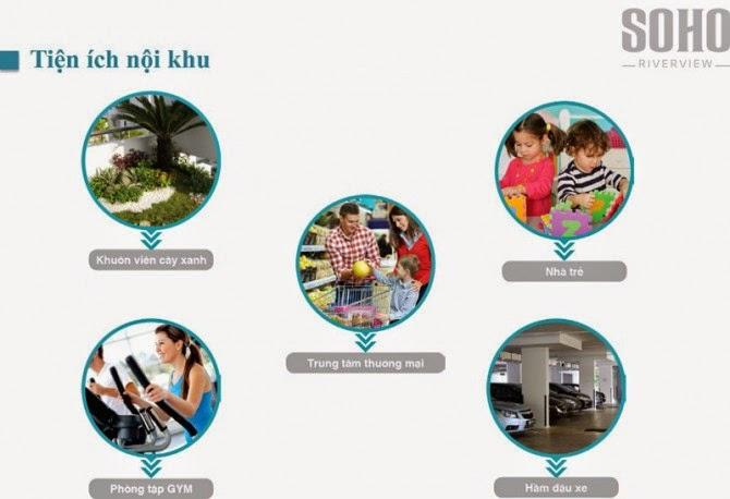 Tiện ích nội khu dự án Soho Riverview