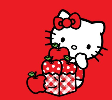 Gambar Wallpaper Hello Kitty Warna Merah