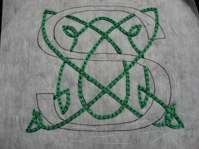 Celtic knot design finished