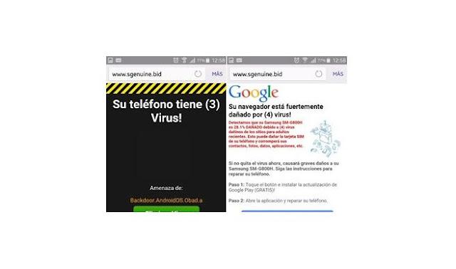Advierten mensajes con virus en dispositivos con Android