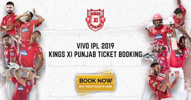 VIVO IPL 2019 Kings XI Punjab (KXIP) Ticket Booking Price and Cost