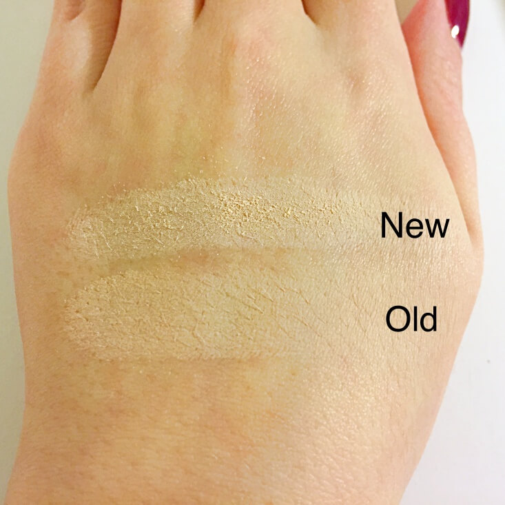 wet n wild coloricon Eyeshadow Single old vs new Brulee swatches