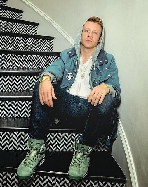 cc81465422f3 Celeb Sneaker Game  Macklemore Wearing His  Emerald City  Air Jordan 6 s