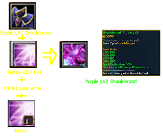 Purple LV2 Shoulderpad defend konoha