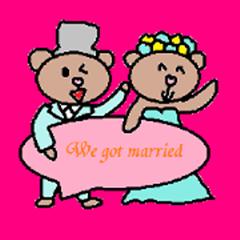 Cute wedding sticker2