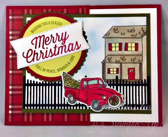 Card, Farmhouse Christmas, Farmhouse Framelits Dies, Rustic
