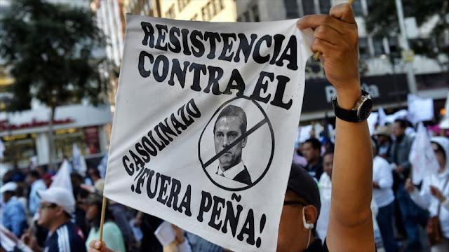 """México vuelve a ser escenario de marchas contra el """"gasolinazo"""""""