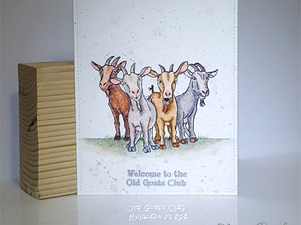 Art Impressions: Old Goat Birthday Card