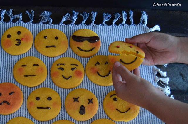 Galletas Emoticonos - Saboreando las Estrellas -