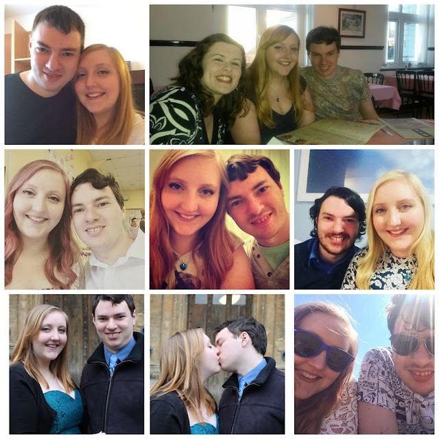A collage of pictures of myself and my boyfriend