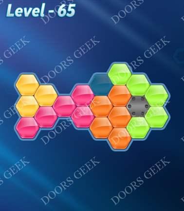 Block! Hexa Puzzle [Rainbow A] Level 65 Solution, Cheats, Walkthrough for android, iphone, ipad, ipod
