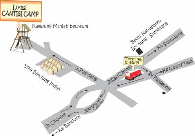 Peta Lokasi Cantigi Camp Cileunyi Bandung