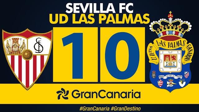 Marcador final Sevilla FC 1-0 UD Las Palmas
