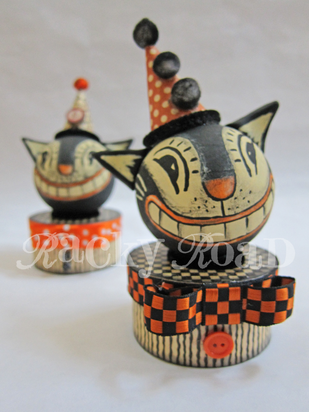 Junk Amp Stuff Tutorial Vintage Look Halloween Cat Trinket Box