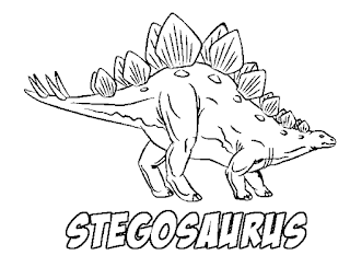 Stegosaurus With Name Coloring Sheet For Kids