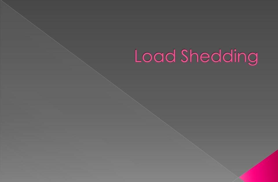 Seminar Topic: Load Shedding