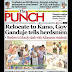 NIGERIA NEWSPAPERS: TODAY'S THE PUNCH NEWSPAPER HEADLINES [5TH FEBRUARY , 2018].