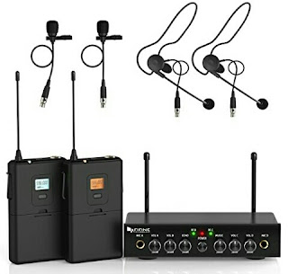 Fifine Cordless Mic Set - Dual Channel Audio System